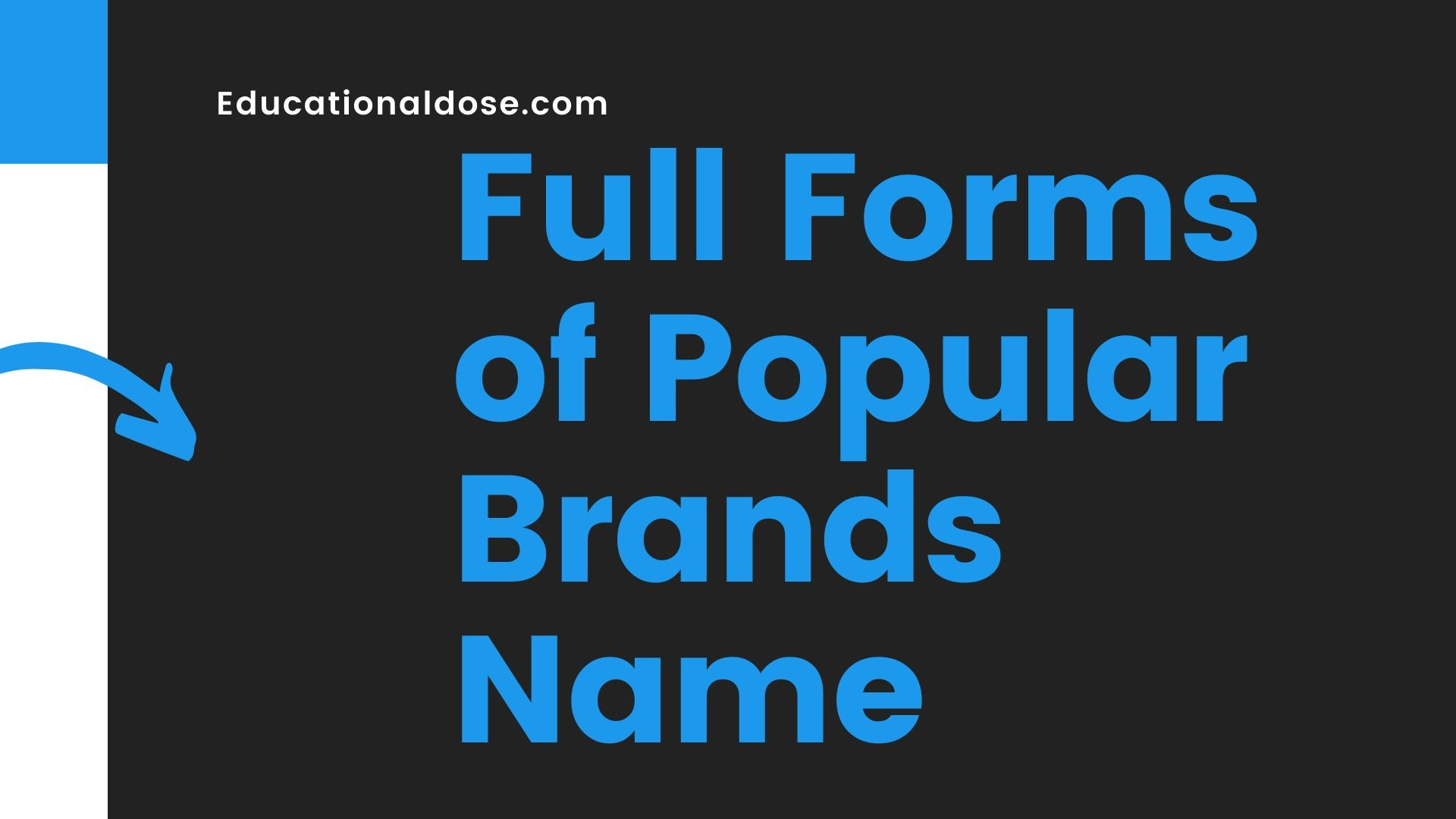 Full Forms of Popular Brands Name